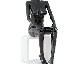 3D model Collection of female mannequins in standing and 1