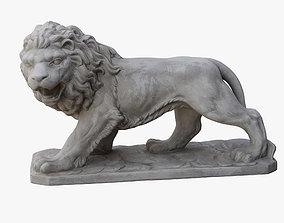 Lion Sculpture 3D model kitten