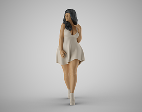Modern City Woman 3 3D print model