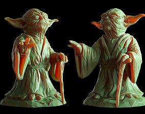 Yoda Lowpoly Sculpture fan 3d print model