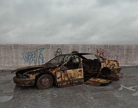 destroyed car 002 am165 3D model