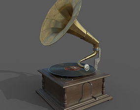 PBR Gramophone 3D model
