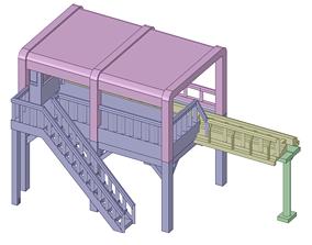 3D print model roller coaster station