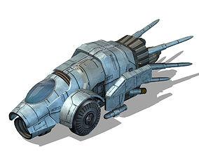 3D model Spaceship 02