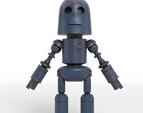 Old and withered robot 3D asset