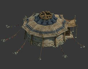 Mongolian Portable Yurt 3D model tradition