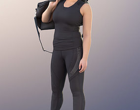 3D model 11171 Vicky - Sporty Woman Standing Big Bag Two