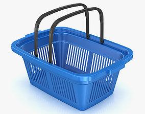 Plastic Shopping Basket 3D model game-ready