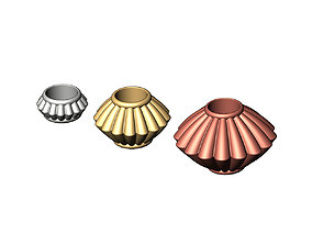 Corrugated Saucer Beads and Charms 3D print model