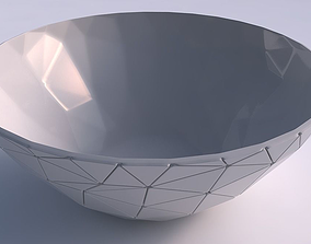 3D printable model Bowl wide with random triangle plates 2