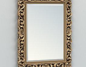 Rectangle mirror frame 006 3D model