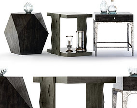 3D Bernhardt Linea End Tables