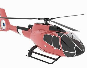 3D model Helicopter H 130 Animated low poly