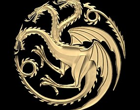 3D asset Game of Thrones - House Targaryen sigil Low poly
