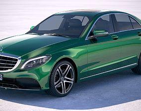 3D model Mercedes-Benz C-class sedan 2019