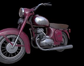 Java 250 motorcycle 3D asset low-poly