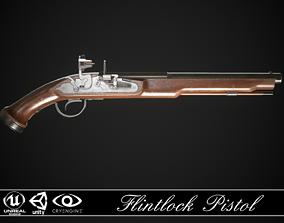 Flintlock Pistol 01 3D asset