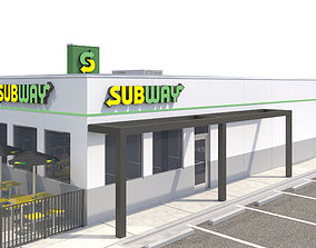 Retail-023 Subway With Site 3D model