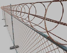 3D model Barbed-Wire-Fence