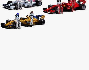 3D asset Formula 1 2018 Pack 1