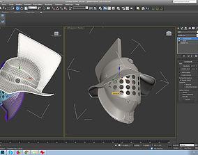 gladiator helmet-3d print model