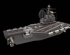 3D asset aircraft carrier battleship