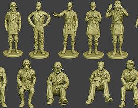3D model soldier Italian Tank Crew ww2 ITCU1 Pack 1