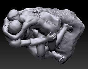 3D rodin statue