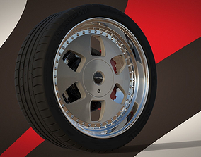 3D model MAE and Tire Michelin Pilot Super Sport