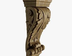 Farmingdale Acanthus Pilaster Corbel 3D