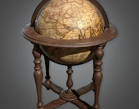 ATT - Standing Globe Antiques - PBR Game Ready 3D model