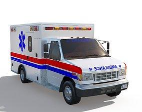 Ambulance Truck 3D asset realtime