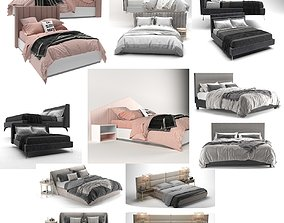 MEGA PACKAGE 8 PIECES ULTRA QUALITY BED FILE 3D model
