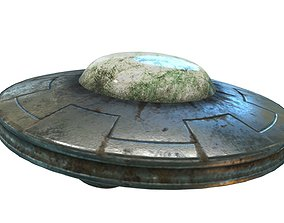 3D model Low Poly Animated UFO With PBR Material