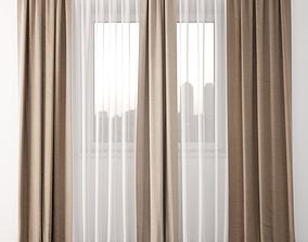 3D model draperies Curtain