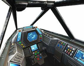 Space Fighter Cockpit - Interceptor MK 3 3D model