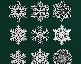 3D printable model Snowflakes Pack