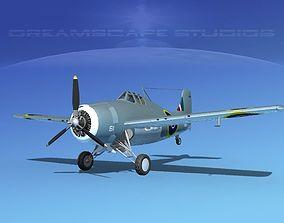 3D Grumman F4F-3 Wildcat V10