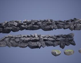 3D model Rocks Low Poly Game Ready