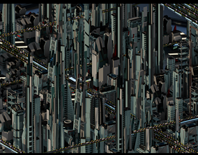 Futuristic-Roads-Cars and City 04 3D