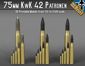 75mm KwK 42 - StuK 42 Patronen --- 1-4 to 1-48 scale 1