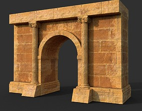Low poly Ancient Roman Ruin Construction 02 - 3D asset