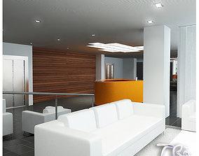 3D OFFICE RECEPTION BAR