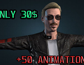 50 ANIMATIONS MALE CHARACTER 3D model