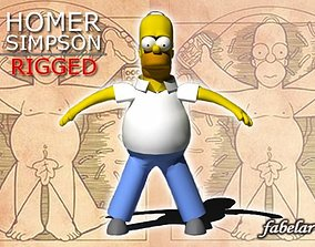 3D Homer Simpson rigged