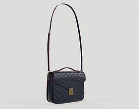 Louis Vuitton Pochette Metis Bag Monogram Navy 3D model 1