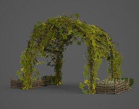 Plants arch way gardening 3D model