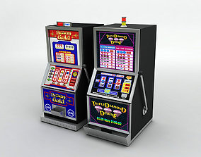 3D model 2 Casino Slot Machines
