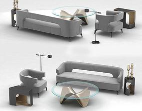 Holly Hunt furniture set 3D model