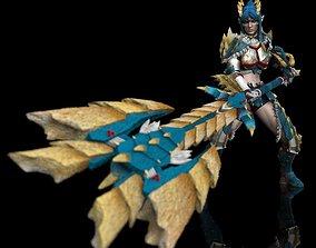 Monster Hunter Zinogre Armor Statue 3D printable model